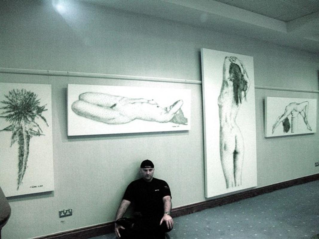 marcus levine exhibition 1st solo