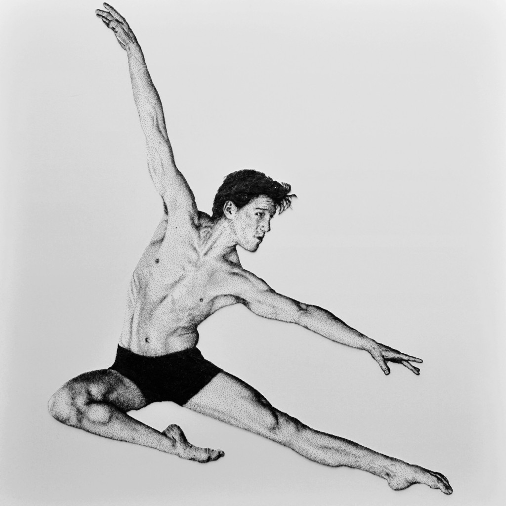 Dominic North Principle ballet dancer to Matthew Bourne Ballet company created from nails by top UK artist Marcus Levine