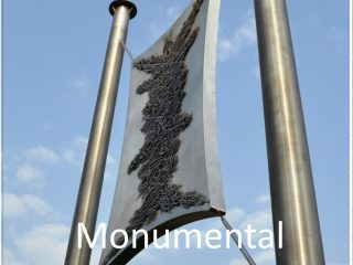 Outdoor Monumental Nail Sculpture